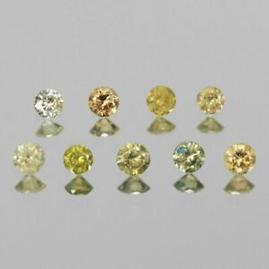 0-24-Carat-NATURAL-Yellow-DIAMOND-LOOSE-for-Setting-Round-Untreated-9PCS-LOT