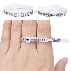 Uk Us Ring Sizer Measure Finger Gauge For Wedding Ring Band