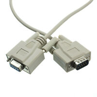 10ft Null Modem Cable, Ul, Db9 Male To Db9 Female