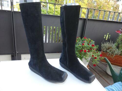 Melvin & Hamilton 1205 Dam zapatos botas de gamuza negro Germany talla 37,5 Neuw
