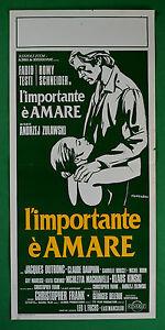 L25 Plakat Andrzej Zulawski L'Wichtig E' Amare Romy Schneider Fabio Texte