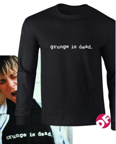 NIRVANA Kurt Cobain replica Grunge is Dead Long Sleeve T shirt unique