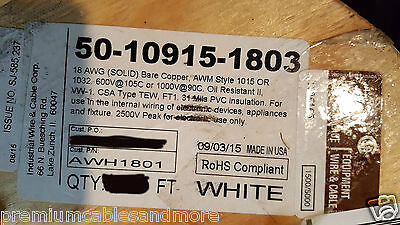 Industrial Wire&Cable 18awg AWM 1015/1032 Sol BC 600V/105C 1000V/90C ...