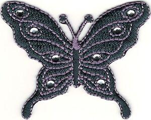 "2.25"" Violeta Piedra Mariposa Bordado Parche"
