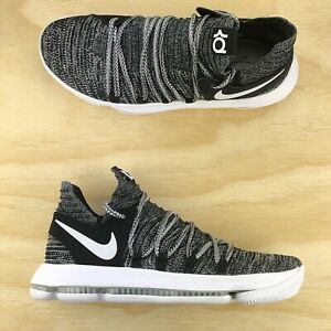 the best attitude 32908 5c190 Image is loading Nike-Zoom-KD-10-Black-White-Oreo-Durant-