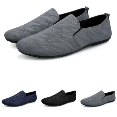 Mens Driving Moccasins Casual Faux Leather Pumps Slip On Loafers Flat Shoes Size