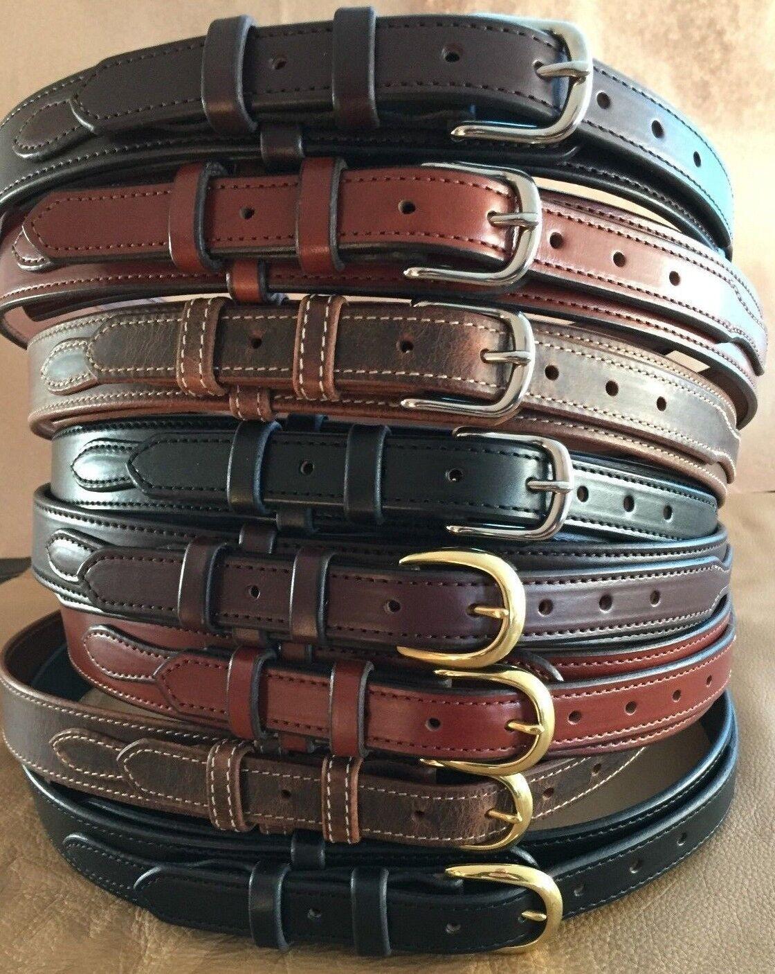 1-1 2 Amisch Handgefertigt Western Cowboy Texas Ranger Style Ledergürtel 3.8cm | Einfach zu spielen, freies Leben