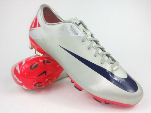 Nike Mens Rare Mercurial Victory ll FG 442005 051 Silver Pink Cleats Boots