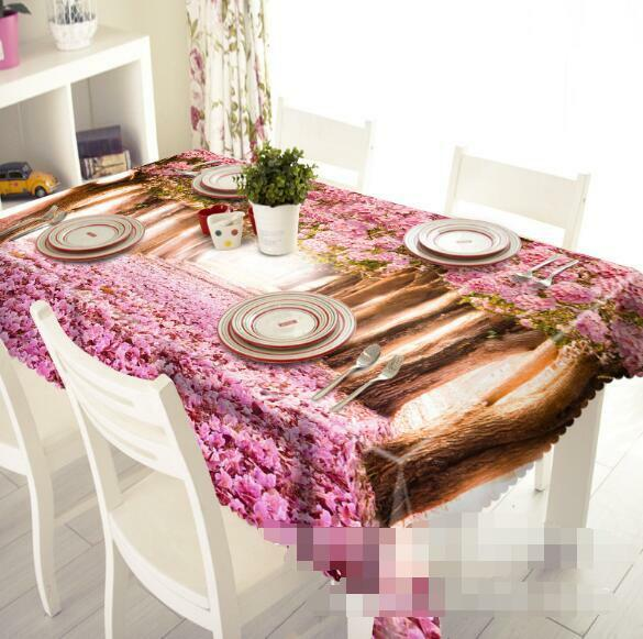 3D rose tree 9 Tablecloth Table Cover Cloth Birthday Party Event AJ WALLPAPER AU
