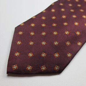 Brooks-Brothers-100-Silk-Mens-Necktie-Red-Foulard-Tie-I25