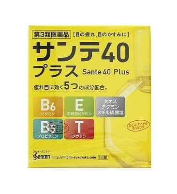 Sante 40 Plus Eye Drops with 5 Active Ingredients 12ml Santen Made in Japan
