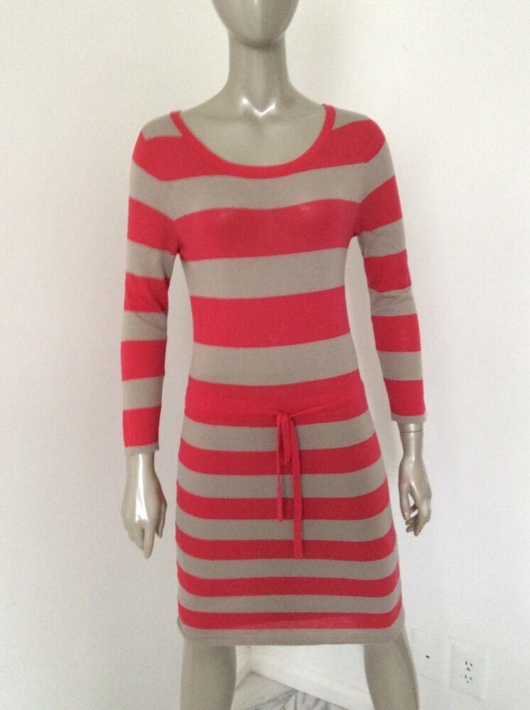 Rag And Bone Womens Red Tan Striped Wool Silk Cot… - image 5