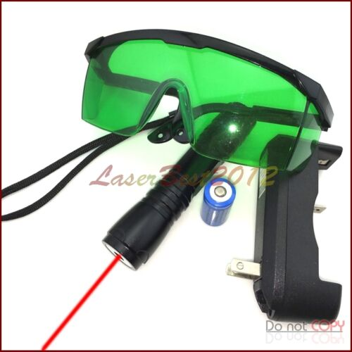 RS8 650nm Adjustable Focus  Red Laser Pointer Battery /& Charger /& Goggles