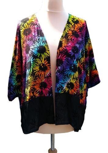 Swirl batik tournesol kimono Vêtements Chic néon Boho Veste au 18 16 20 de 22 24 AqBZn6WaR