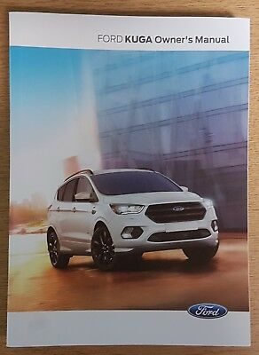 GENUINE FORD KUGA 2017-2019 HANDBOOK MAIN OWNERS MANUAL BOOK WITH AUDIO SYNC