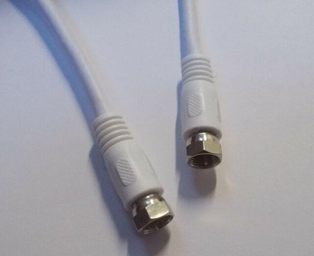 SAT-Anschluss-Kabel - F Stecker - koaxial 2x geschirmt - digital - 0,5m in weiß