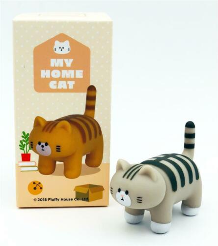 BLACK STRIPED CAT MY HOME CAT MINI VINYL TOY BLIND BOX FIGURE BY FLUFFY HOUSE