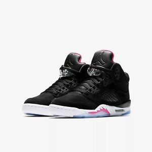 e8d471e5d978 440892-029 Air Jordan 5 Retro (GS) Big Kids Black Deadly Pink Sizes ...