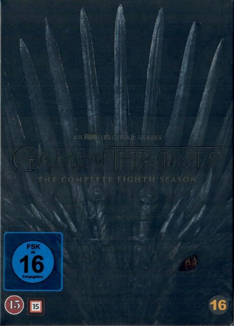 Game of Thrones Staffel 8 Neu und Originalverpackt 4 DVDs Die finale Staffel