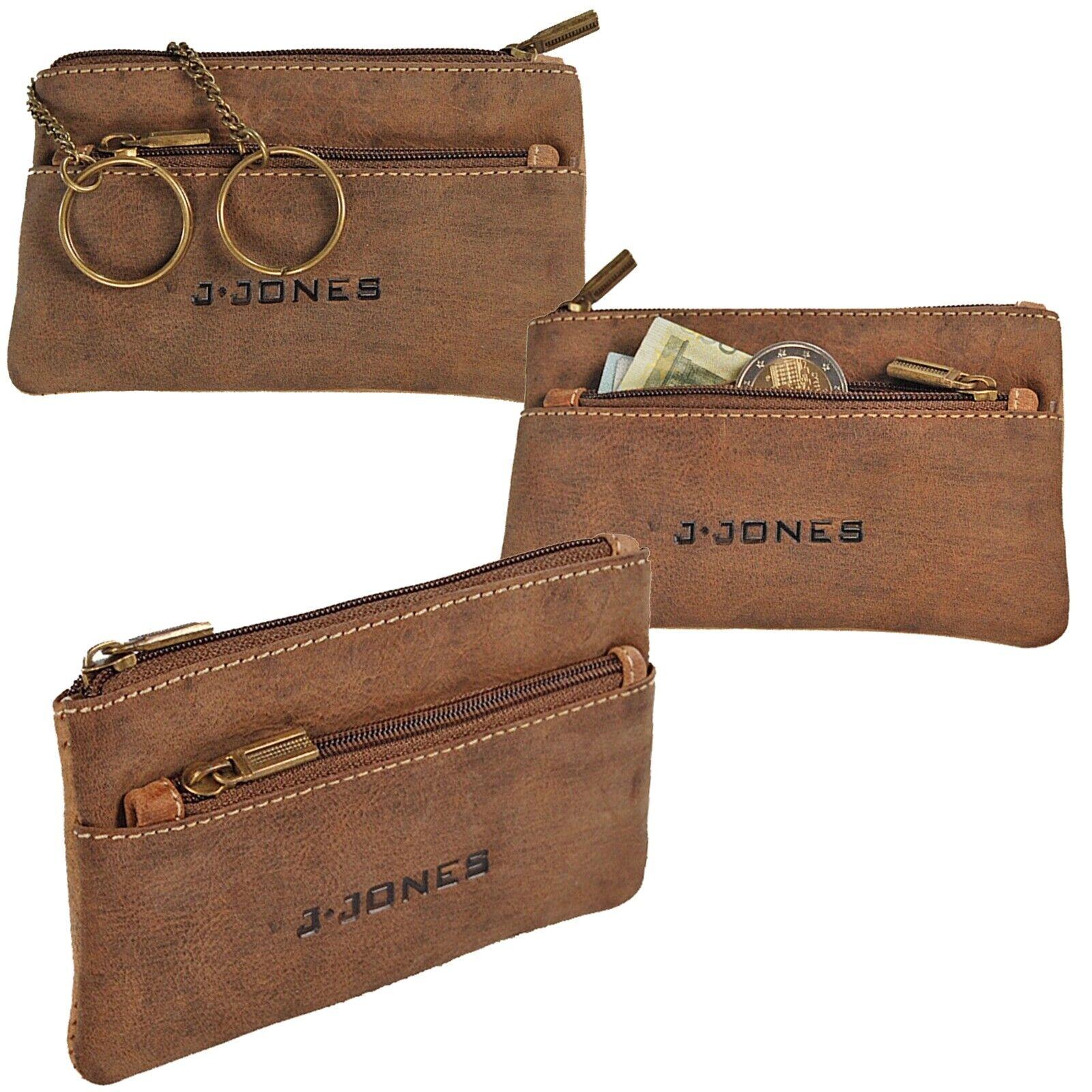 J.Jones Schlüsseltasche Echt Leder Schlüsseletui Schlüsselmappe Haustürschlüssel