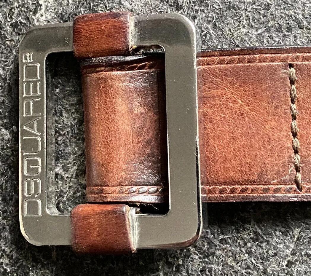 DSQUARED 2 F/W 2002 homeless Sz S Snap Buckle Belt Belt Leather Belt first staff