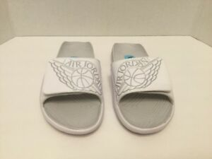 3a4d8803e5e0 AIR JORDAN HYDRO 7 (GS) Slides AA2516-100 WHITE PURE PLATINUM ...