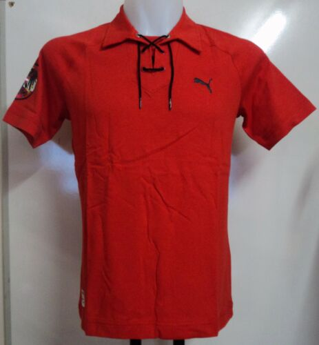 AUSTRIA RED LACE UP POLO SHIRT BY PUMA ADULTS SIZE SMALL BRAND NEW WITH TAGS