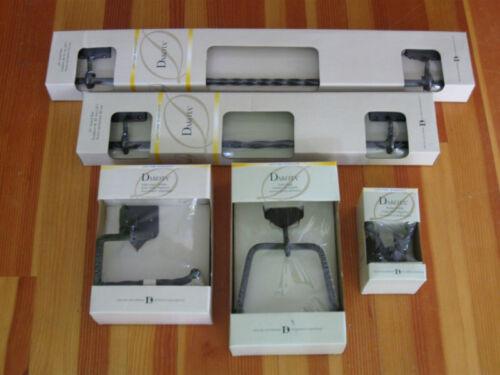 Black Towel Bar Set 24 and 18 Towel Bars Towel Ring Robe Hook TP Holder