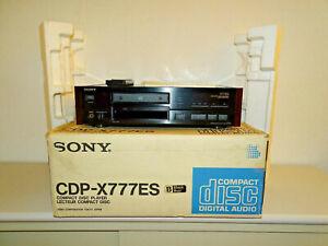 Sony CDP-X777ES High-End CD-Player Schwarz in OVP, FB&BDA, 2 Jahre Garantie