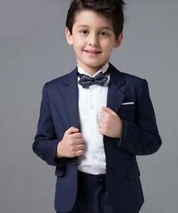 Image Is Loading Navy Children 039 S Tuxedos Wedding Party Suits
