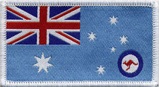 Royal Australian Airforce Flag RAAF, Woven Badge Patch 8cm x 4.5cm