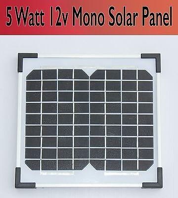 NEW Square 5 Watt 12v Monocrystalline Solar Panel 5W - Free Frieght