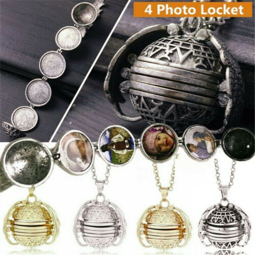 Photo Picture Pendant Expanding Locket Necklace Memorial Jewelry Angel Wings 4