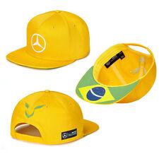 Mercedes Benz Formula1 Lewis Hamilton Special Edition Yellow Brazil Flatbrim Hat
