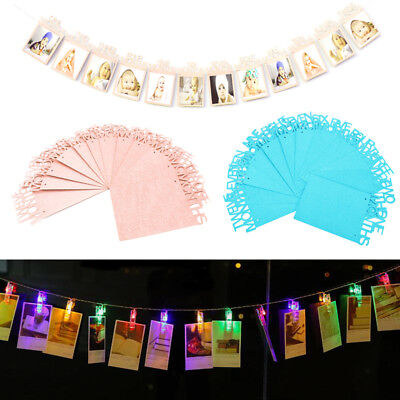 Led Photo String Light Clip Peg Birthday Bunting Banners