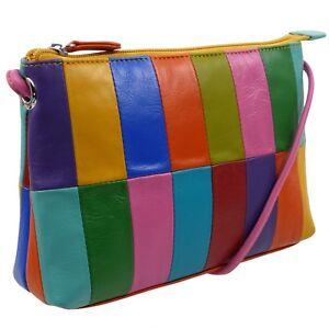 York Rainbow Neuf Par Cuir Femmes Coloré Sac Ili Bandoulière n0xvW6