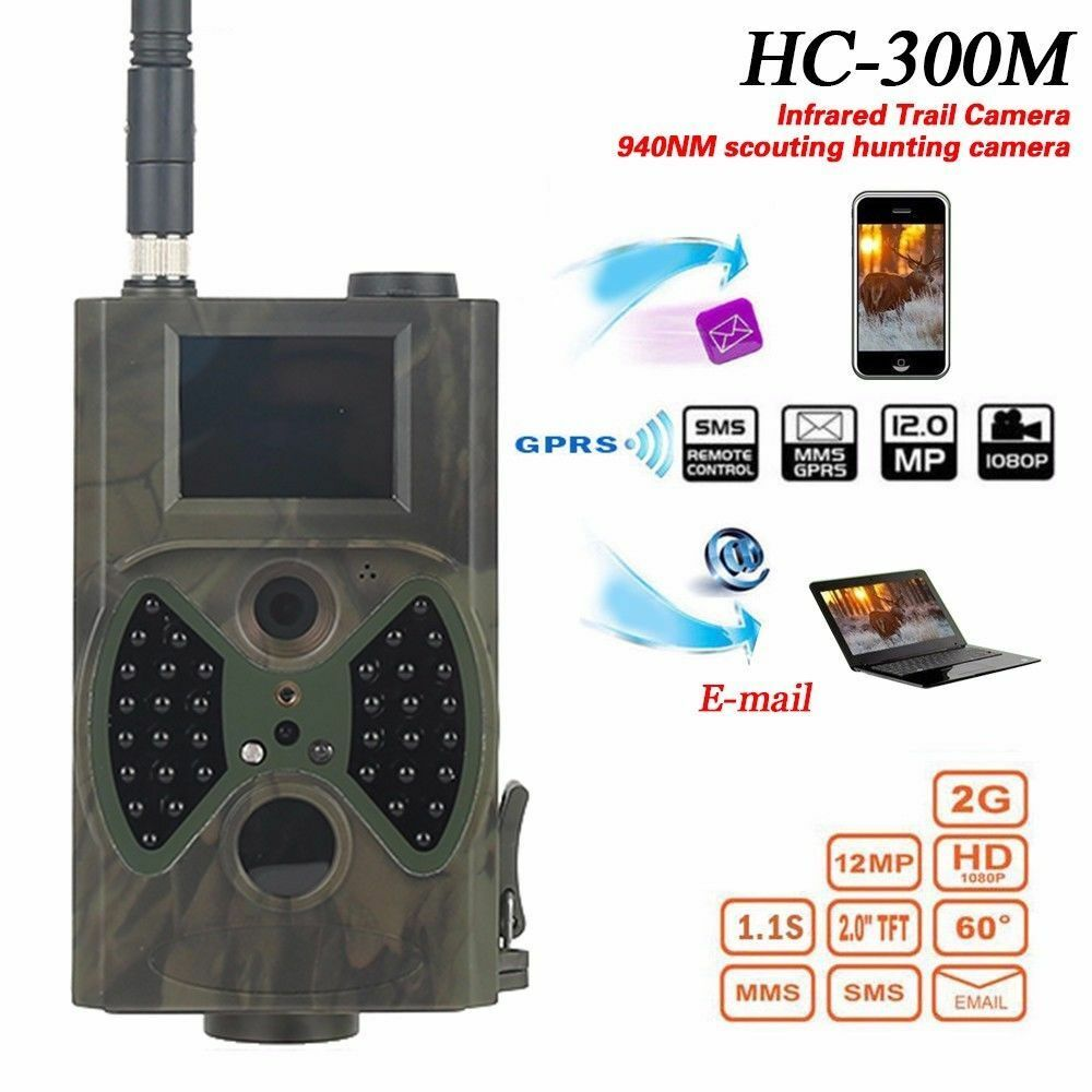 12MP Photo Traps E-mail MMS  GSM 1080p Night Vision Traps HC300M Wild Hunt Camera  best prices and freshest styles