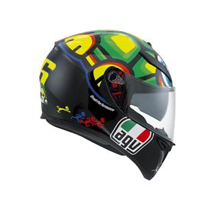 AGV K3 SV Tartaruga Casco Integrale Moto Valentino Rossi Pinlock Helmet Scooter