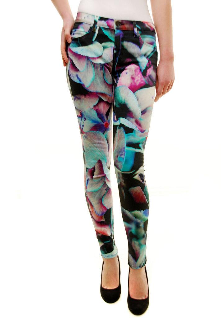 Brand Donna J HYDRA Stampa Jeans 620O241HP Multi Multi Multi colore Misura 26 RRP  BCF72 a27188