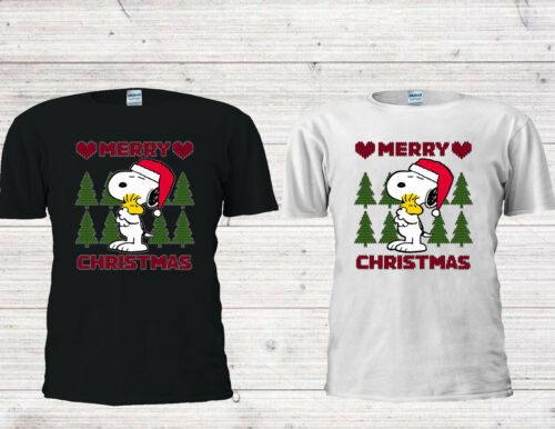 Details about  /Disney Snoopy /'Merry Chrıstmast/' Cute Men Women Unisex T-shirt Vest Top 4467