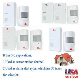 1byone-Wireless-Driveway-Alarm-System-Doorbell-Sensor-Home-Security-Long-Range
