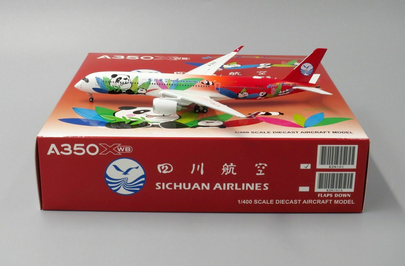 JC Wings 1 400 400 400 Sichuan Airlines Airbus A350-900 XWB 'Panda - Flaps Up' B-301D 670557