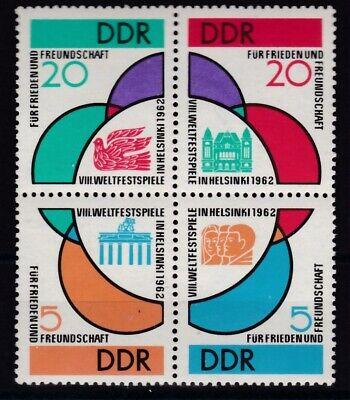 901-904 4er Block Weltfestspiele Jugend Und Studenten Ddr 1962 Postfrisch Minr Familie & Soziales