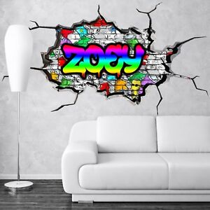 Image is loading 3D-KIDS-PERSONALIZED-GRAFFITI-CUSTOM-NAME-WALL-ART-  sc 1 st  eBay & 3D KIDS PERSONALIZED GRAFFITI CUSTOM NAME WALL ART STICKER DECAL ...