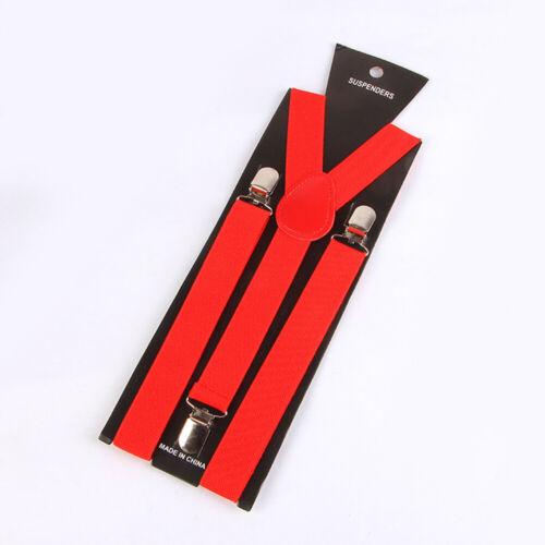 Men Women Elastic Y-Shape Back Braces Belts Clip-on Suspender Stripe Adjustable