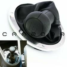 For Volkswagen Gol 5 Speed Black PU Gear Shift Knob Gaitor Boot Chrome Base