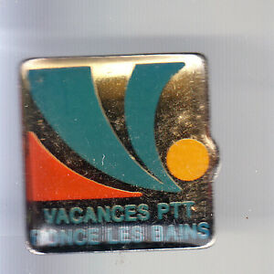 RARE-PINS-PIN-039-S-PTT-LA-POSTE-FRANCE-TELECOM-VACANCES-RONCE-LES-BAINS-17-BS