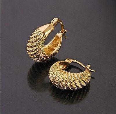 Elegant & Stylish 18k Gold Plated Small Hoops Earrings E263