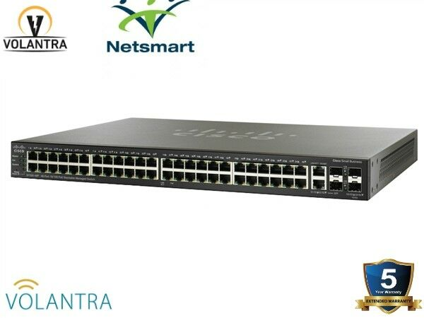 Cisco SG500-52P-K9-NA 48 Port Gigabit Ethernet PoE+ 2xGE/2x5GE SFP SG500 52P