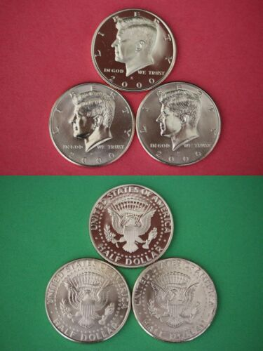 2000 P D S Kennedy Proof /& BU Half Dollars From Mint Sets Combined Shipping